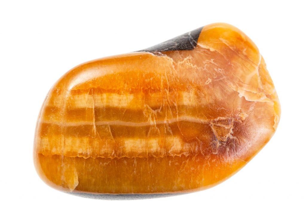 Calcite orange polie - la pierre apaisante